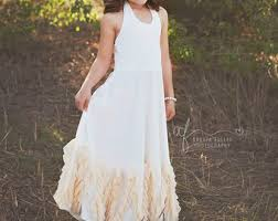 Boho Flower Girl Dress Dresses Rustic Vintage