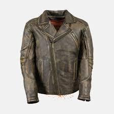 men u0027s brown distressed leather police jacket bikers gear online usa