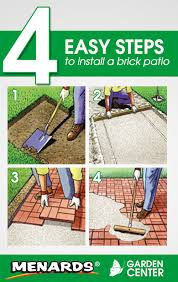 Menards Plastic Patio Blocks by 4 Easy Steps To Install A Brick Patio From The Menards Garden