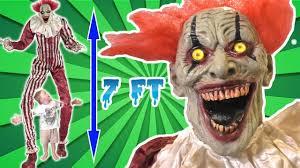 Spirit Halloween Animatronic Mask by Tallest Clown Halloween Animatronic Ever Towering Creepy Clown