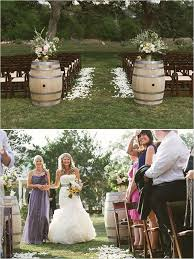 Wedding Chic Rustic Outdoor Ceremony Ideas With Wine Barrel Decorations