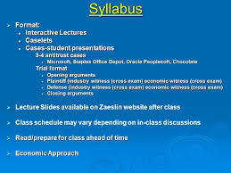 Geor own University Zaeslin Program in Law and Economics