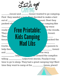 Halloween Mad Libs Free by Tons Of Fun Camping Themed Activities For Kids With Free