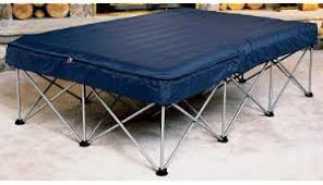 Cabelas air bed frame with air bed and pump