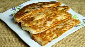 Pizza Paratha Stuffed Vegetable Cheese