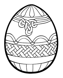 Easter Egg Designs Coloring Pages Happy Easter 2017