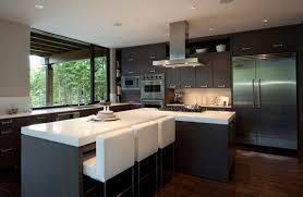 Chic Minimalist Kitchen Fantastic Design Furniture Decorating With