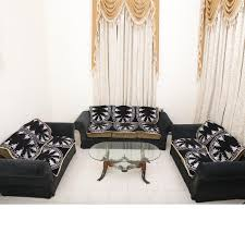 buy furnishing kingdom floral 7 seater velvet sofa slipcover set