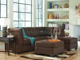 Milari Sofa Living Spaces by Maier Walnut Raf Sleeper Sectional Ashley 45201