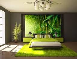saftig grüner bambus fototapete für schlafzimmer