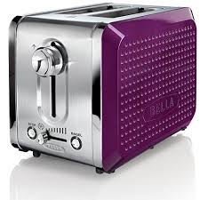 BELLA 13744 Dots Collection 2 Slice Toaster Purple B00DPIOBCM