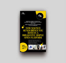 100 Mundi Design Bold Modern Museum Flyer For Electric Bench By Vikas Naik