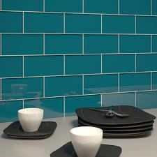 Vapor Light Blue Glass Subway Tile by Glass Subway Tile Dark Teal 3