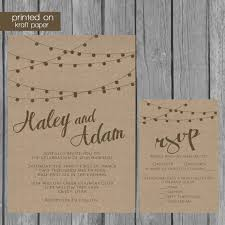 Kraft Paper Wedding Invitation Rustic Bluefencedesigns Invitations