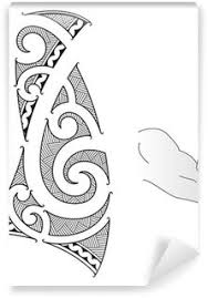 Maori Style Tattoo Design Fits For A Forearm Vinyl Wall Mural