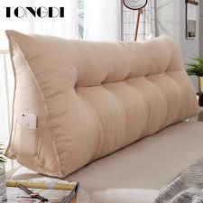tongdi hause weichen große kissen zurück kissen lange elastische rückenlehne multifunktions luxus decor für nacht sitz bett sofa tatami