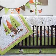 Woodland Crib Bedding Sets by Amazon Com Pam Grace Creations Charming Forest 6 Piece Crib Set
