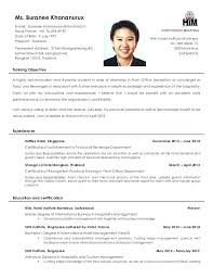 Resume Format For Ojt Example Of Management Students Sample Business