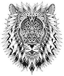Lion 2 Adult ColoringColoring PagesDoodle