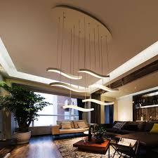 led modern chandelier lighting dining room fashion diy creative