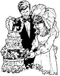 married couple cutting wedding cake clipart bridal association of america wedding clip art balloons