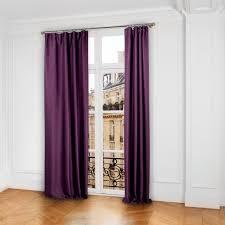 rideau chambre parents occultant à galon fronceur lina violet madura