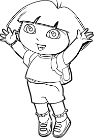 Dora Colouring Book Pdf Coloring Apk The Explorer Going To School Page Pictures Print Full