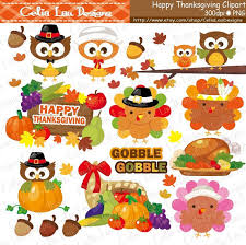 Gobble Thanksgiving Clipart Turkey Clipart Pumpkin clipart Fall clipart Harvest clipart Cute Thanksgiving CG084 INSTANT DOWNLOAD from CeliaLauDesigns on