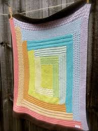 Wonky Log Cabin Blanket Knit Pattern