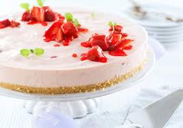 philadelphia erdbeer rhabarber torte