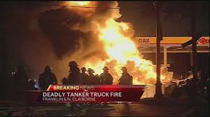Tanker Truck Driver Dies After Explosion Causes 3-alarm Fire Near ... Police Id Father Son Burned In Food Truck Explosion Update Douglas Gas Ruled Accidental See It Garbage Explodes Giant Fireball Along New Jersey At Least 2 People Dead 70 Hurt After Truck Explosion On An Italian Two Men In Critical Cdition After Being Severely Burned Tanker Russian Gas Hd Youtube Witness Dcribes Tanker Trucks 90degree Turn Fiery Crash Macgyver Mail Highspeed Mythbusters Owners Caught Food Die From Injuries Eater Italy Kills Two Injures Dozens 3 Dead 67 Injured After Highway