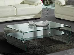 couchtisch glas design transparent schwarz