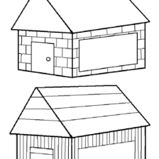 Ability Free Coloring Pages Of Straw House 3 Little Pigs