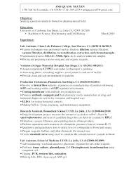 Entry Level Medical Assistant Resume From Research Intern Resumes Objective For