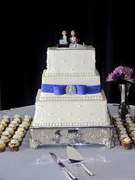 This pretty square buttercream wedding cake