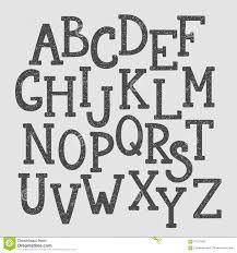 Doodle Alphabet Simple Hand Drawn Letters
