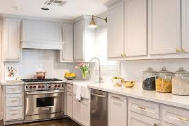 grey cabinets brass pulls design ideas