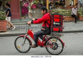 Pizza Delivery Scooter Stock Photos Amp