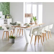 esstisch columbia 90x200 geölt weiß erweiterbar