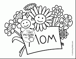 Terrific Mothers Day Coloring Pages Printable With Mom And 1