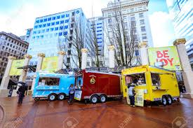 Portland, United States - Dec 21, 2017 : Food Truck In Pioneer ... Are We Losing Our Food Cultures Erik Wolf Medium Opera A La Cart Portland Bright Lights Food City A Truck Court Or Pod In Oregon Stock Photo Black Customer At Forced Out By Coowner Who Carts Youtube Review The Next Generation Of Monthly Tour Street Eats And Beats 2016 Maine Shuckie Mobile Truck Head Lighthouse
