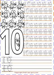 Numbers Tracing Worksheets 10 For Preschool