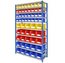 48 Plastic Bin Storage Shelves Bin Warehouse 12 Tote Storage