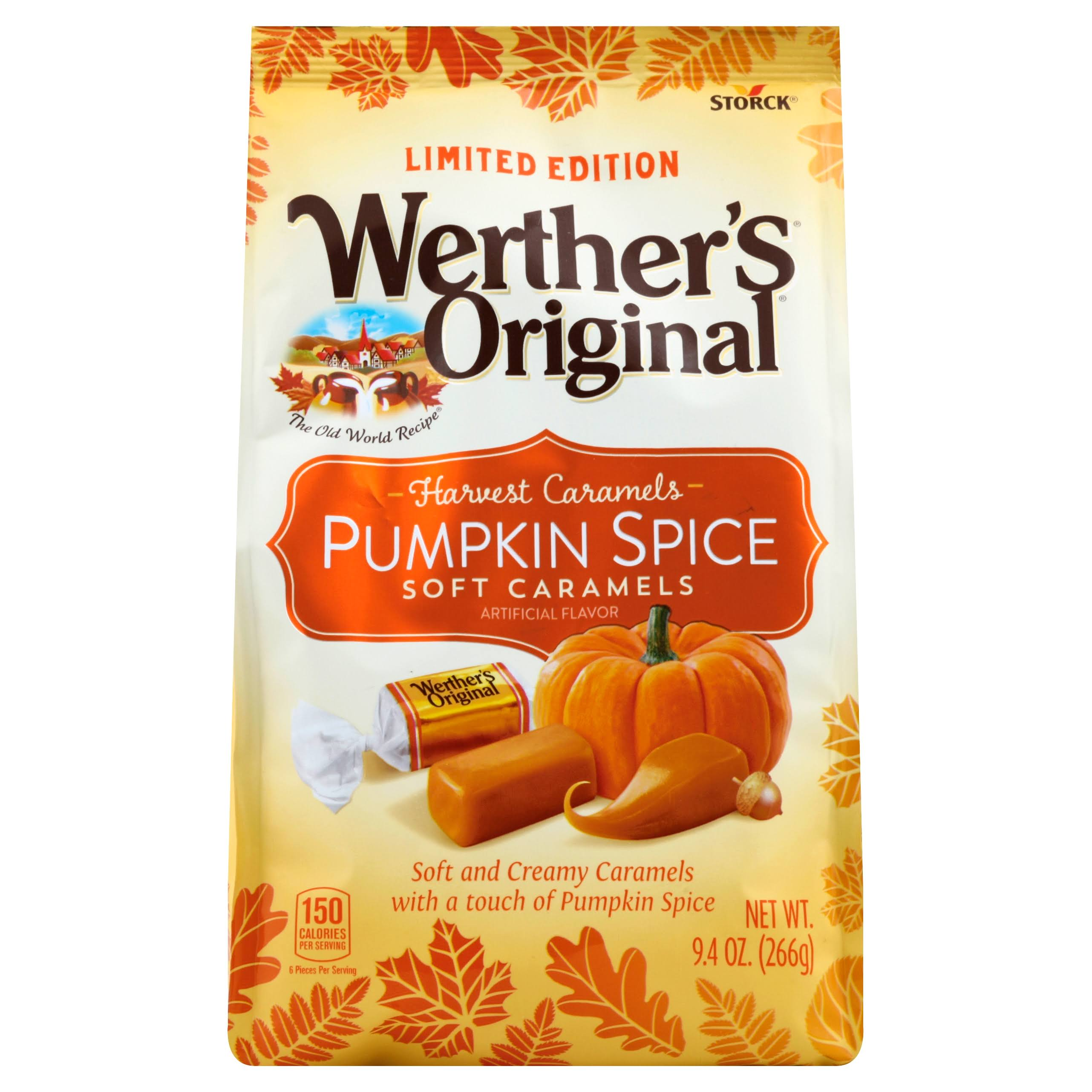 Werther's Original Pumpkin Spice Soft Caramels Candy - 9.4oz