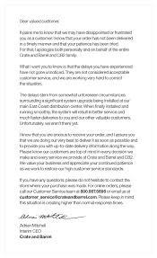 Apology Letter For Customer Letters Font