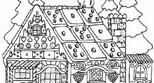 The Incredible Gingerbread House Coloring Page For