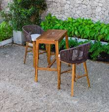 Rabr-099 Hot Summer Trendy Wicker Pe Rattan Bar Set 2 Chairs And Acacia  Wooden Table For Outdoor Furniture - Buy Cheap Bar Table Sets,High Chair  And ...