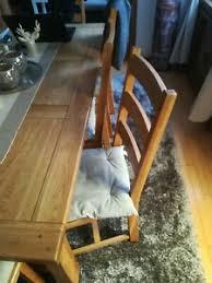 details zu 8 stühle küche esszimmer massivholz sehr gepflegt