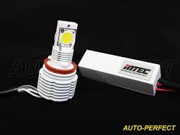 mtec 6000k h11 led fog light bulbs 6200 lumen canbus error free