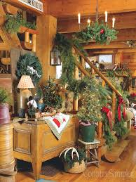Get A Great Lodge Look By Decorating With Antlers Plaid And Log Themed Accessories Christmas LogCabin DecorPrimitive ChristmasCountry